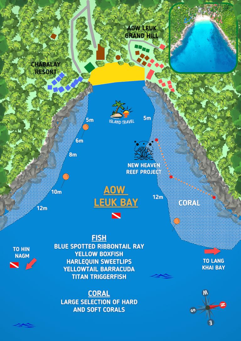 Koh Tao Dive Map - Aow Leuk