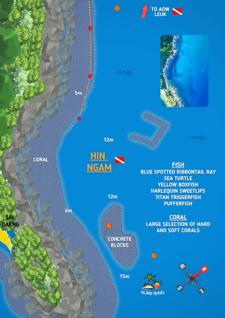 Koh Tao Dive Maps - Hin Ngam