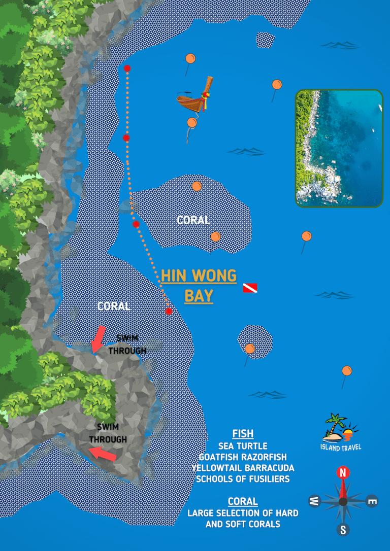 Koh Tao Dive Map - Hin Wong Bay