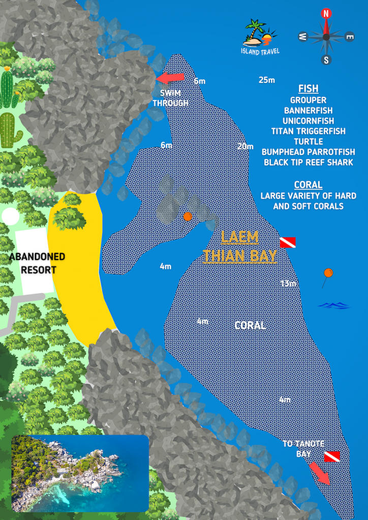 Laem Thian Diving Site Koh Tao