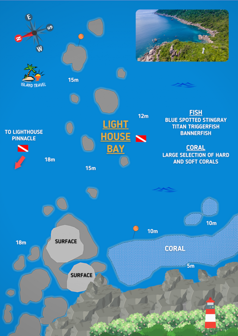 Koh Tao Dive Maps - Lighthouse Bay