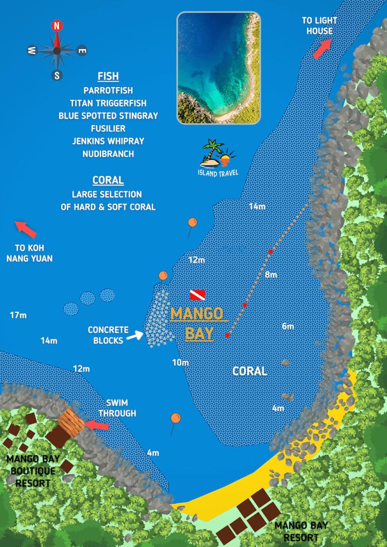 Koh Tao Dive Map - Mango Bay