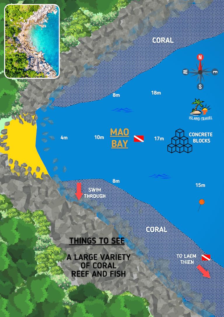 Koh Tao Dive Map - Mao Bay