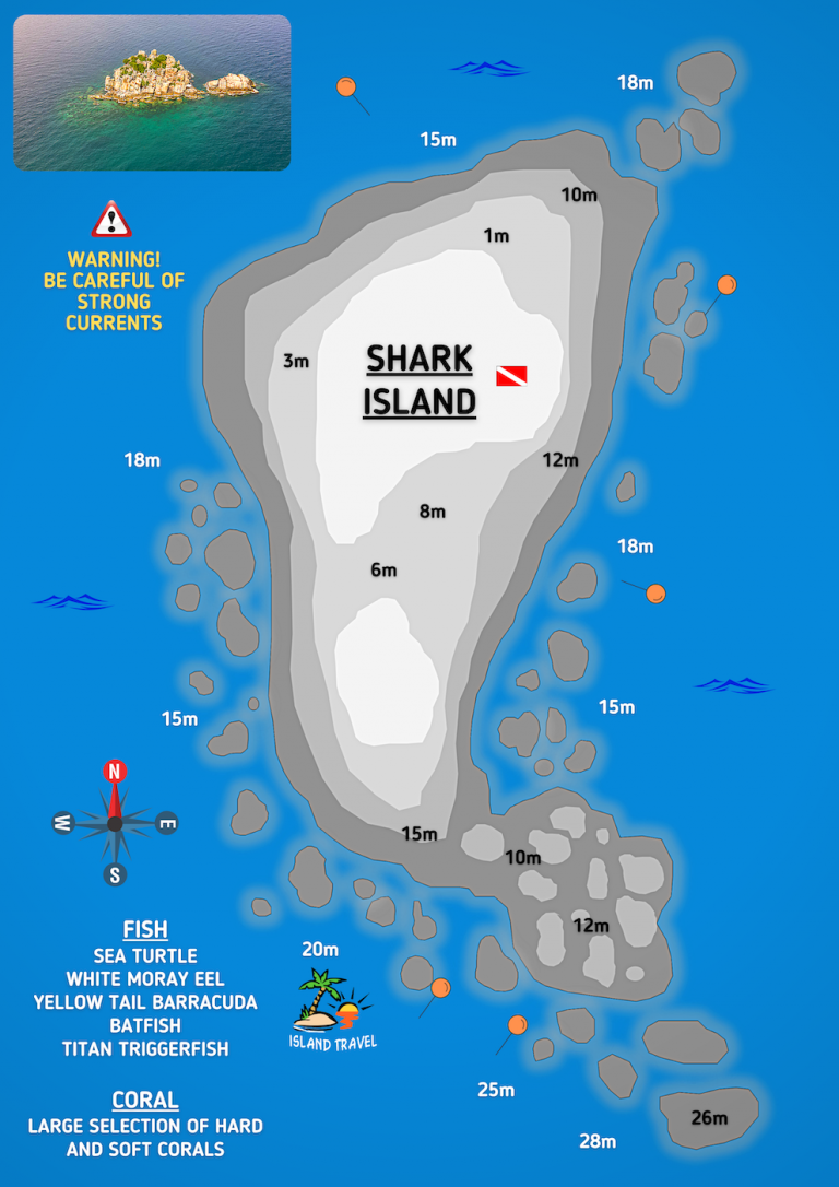 Koh Tao Dive Map - Shark Island