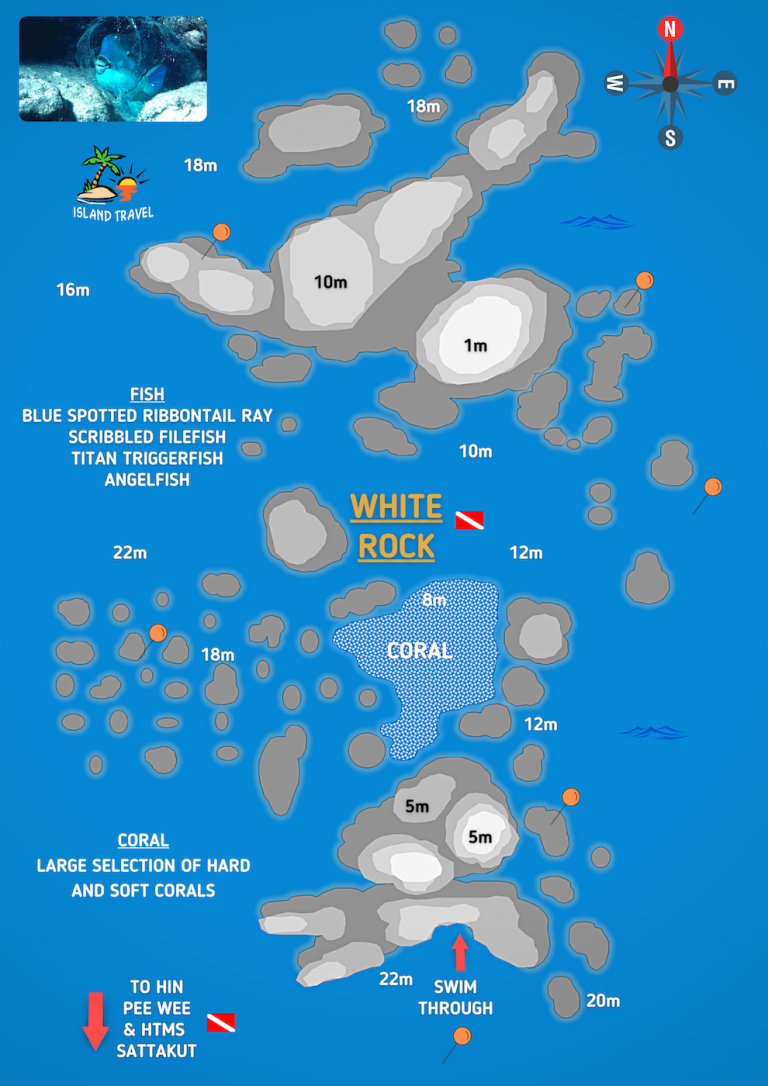Koh Tao Dive Maps - White Rock