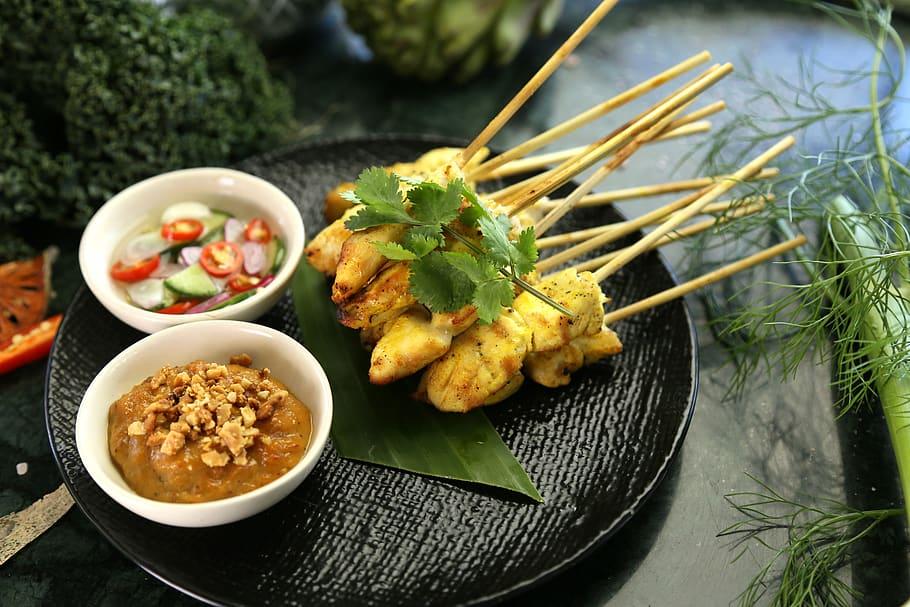 satay-chicken-peanut-sauce-thai-food-thai-snack